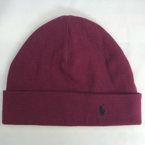 Polo Ralph Lauren Thermal Cuffed Maroon Beanie